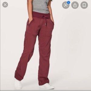 Lululemon Dance Studio Pants Joggers Ruby Wine 8